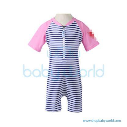 Beverly Kids UV Swimsuit Girl - Blue + Pink