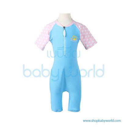 Beverly Kids UV Swimsuit Girl - Navy + Pink