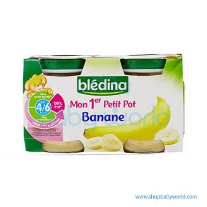 BLEDINA Baby Food Banana Jar 4/6M+ 2X130G (12)