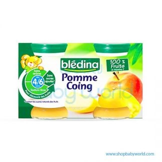 BLEDINA Baby Food Quince apple Jar 4/6M+ 4X130G (6)