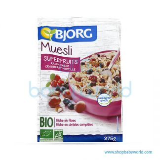 BJORG Muesli Cereals and Organic fruits No Sugar 375g (12)