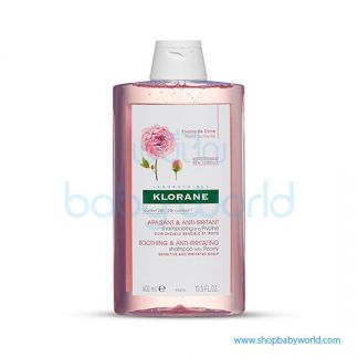 Klorane Shampoo Peony Extract Irritated Scalp 400ml