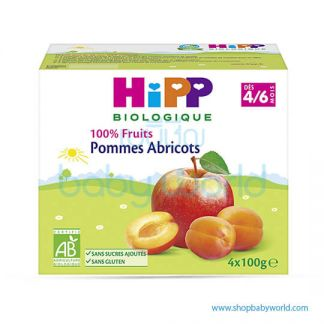 HIPP Organic Baby Food Apricot Apple 4/6M+ 4x100g (6)