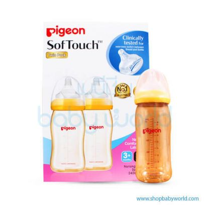 (H) Pigeon Bottle WN Plus PPSU 240ml, Twin Pack 26203