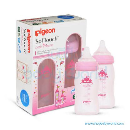 Pigeon WN Bottle Twin Pack 240ml, Princess 26461(48)