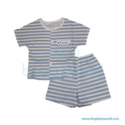 MafaBeBe Summer Short Sleeve Cloth Set Blue/White 90(1)