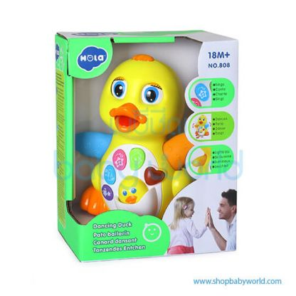 Hola Dancing Duck with Light/Music/Electric 808(2Pack 24)