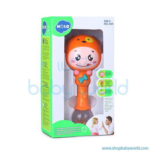 Hola Baby Rattle with Music/Light 3101(2Pack 96)