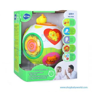 Hola Catch-Me Activity Ball with Music/Light/Rotation 938(2Pack 12)