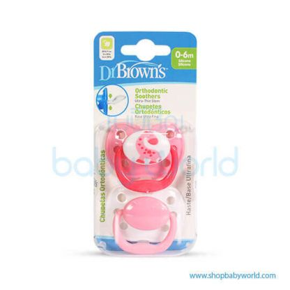 Dr. Brown Orthodonic Soother Pink Size1(0-6m)(12)