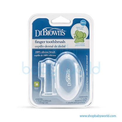 Dr. Brown Silicone Finger Toothbrush with case(12)