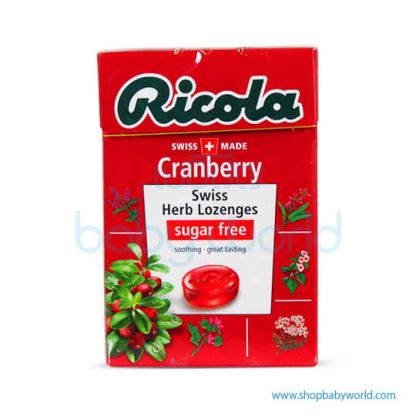 RICOLA CRANBERRY without Sugar, 45g x 20 x 6(20)