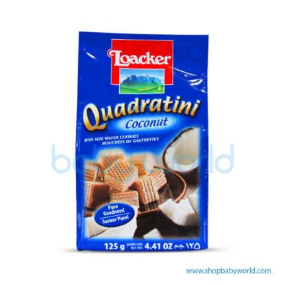 Loacker Quadratini Coconut 125g x 12(12)