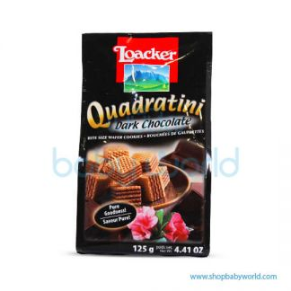 LOACKER QUADRATINI DARK CHOCOLATE 125G(12)