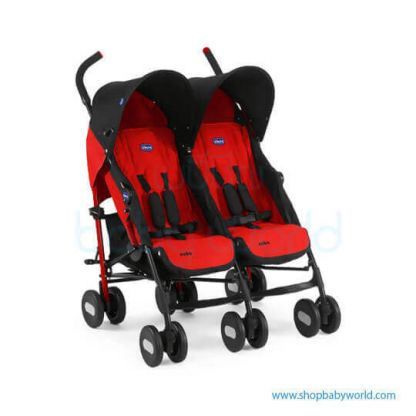 Chicco - Echo Twin Stroller Garnet - Red 4079311110000(1)