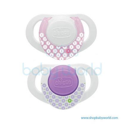 Chicco Soother PH.Compact Pink Sil 0-6M 2Pcs B 74830110000