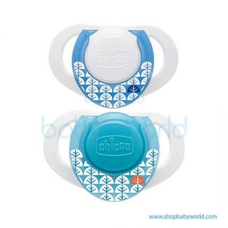 Chicco Soother PH.Compact Blue Sil 0-6M 2Pcs B 74830210000(12)