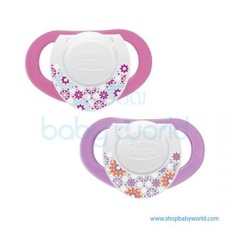 Chicco Soother PH.Compact Pink Sil 6-12M 2Pcs B 74832110000(12)