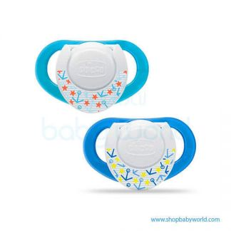(DC) Chicco Soother PH.Compact Blue Sil 6-12M 2Pcs B 74832210000(12)
