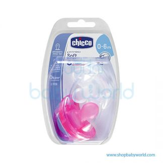 Chicco Physio Soft Girl Sil 0-6m 2 Pcs (1 Transparent + 1 Pink) 02730110000(6)