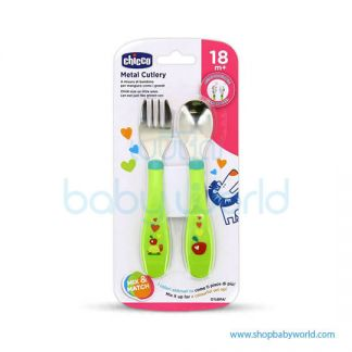 Chicco METAL CUTLERY 18M+ BOY/NEUTRAL 00016102200000( 6)