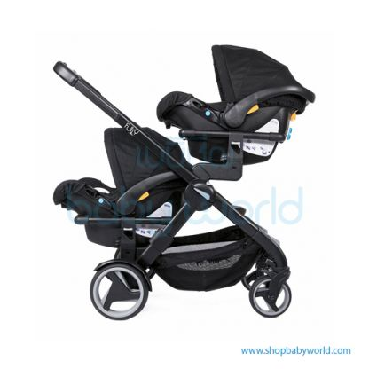 Chicco Fully Twin Stroller Twin -  Stone  (1)