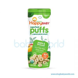 Happy puffs Broccoli& green apple 60g (6)
