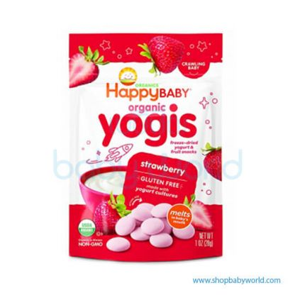 Happy Yogis Dried Yogurt Strawberry 28g (8)(8)