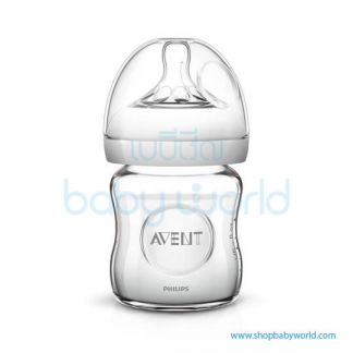 Philips AVENT: Natural Glass 4oz 1 Feeding Bottle , SCF671/13(6)