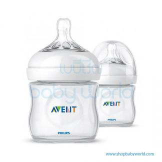 Philips AVENT: Natural PP 4oz 2 Feeding Bottles, SCF690/23(6)