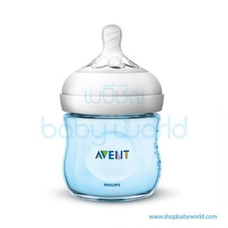 Philips AVENT: Natural PP 4oz 1 Feeding Bottle Blue, SCF692/13(6)