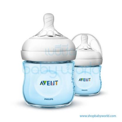 Philips AVENT: Natural PP 4oz 1 Feeding Bottle Blue, SCF692/23(6)