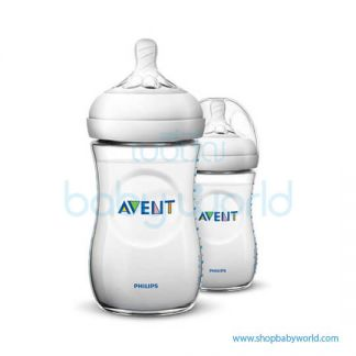 Philips AVENT: Natural PP 9oz 2 Feeding Bottles, SCF693/23(6)