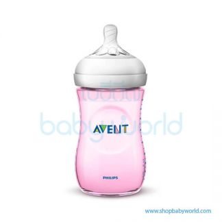 Philips AVENT: Natural PP 9oz 1 Feeding Bottle Pink, SCF694/13(6)