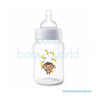 (DC)Philips AVENT: Classic+ PP 260ml/9oz 1 Bottle Monkey , SCF574/11(12)