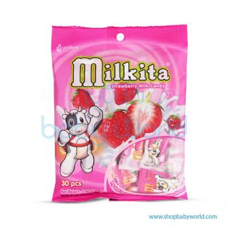 Milkita Strawberry Mild Candy Bag (20Bag x 90g). (20)
