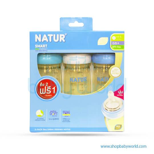 Nature 3-pack 8oz PES Smart Biomimic WN Bottle (80168)(6)