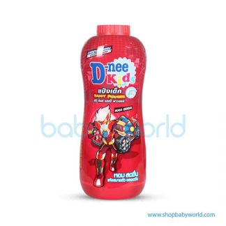 D-nee Kids Talcum Happy Powder Dark Red 400g Drak Red Twin pack (24)