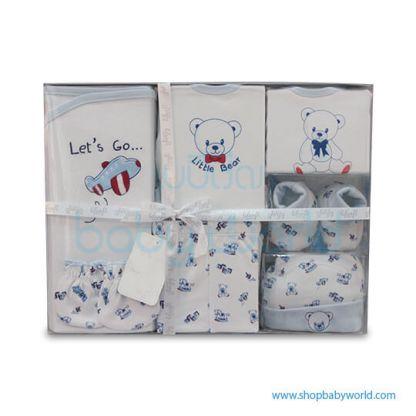 7 Pcs Baby Gift Set LI-3162 Red-Pink(1)