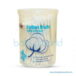 TollyJoy Cotton Buds With Ear Pick 100Stk(24)