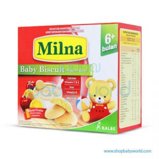 Milna Baby Biscuit 6+ Mix Fruit(12)