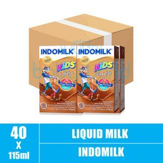 Indomilk Chocolate 10box x 4bot x 115ml (10)