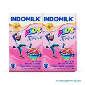Indomilk Strawberry 10box x 4bot x 115ml (10)