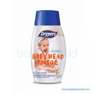 Drypers Baby HeadTo Toe 220ml(12)