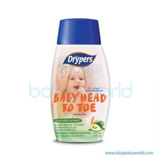 Drypers Head To Toe Avocado Extract 220ml(12)