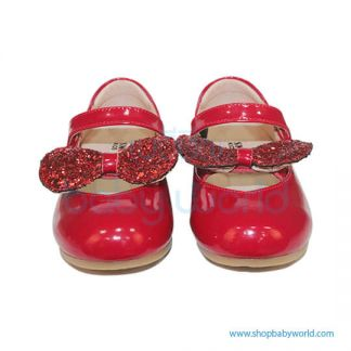 Snoffy Spring Leather Shoes AAQK18615 Red 30(1)