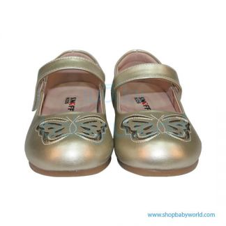 Snoffy Spring Leather Shoes AAQK18615 Gold 28(1)