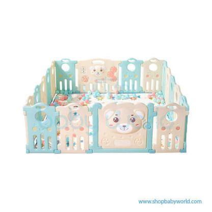 Aole Cute Bear Playpen 14+2 AL-1117120505(1)