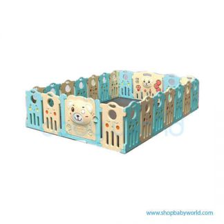 Aole Cute Bear Playpen 16+2 AL-1117121206(1)