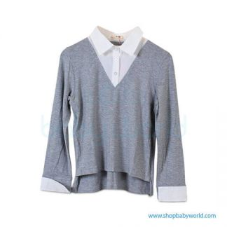 Bearsland gray long sleeve tops BA105 L(1)